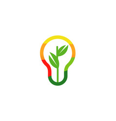 eco power logo vector image