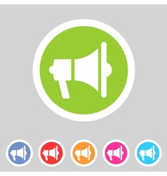 Flat loudspeaker megaphone icon vector