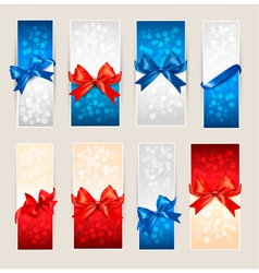 Gift card backgrounds vector image