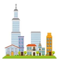 great city buildings icon vector image
