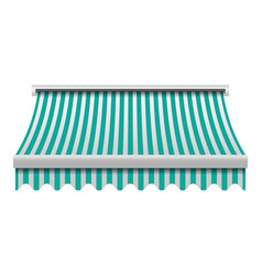 green white awning mockup realistic style vector image