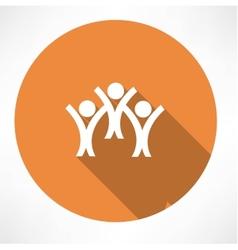 happy people icon vector image vector image