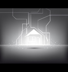 home illuminated vector image