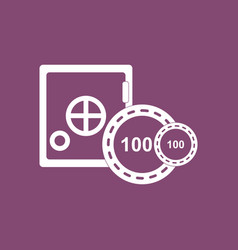 Icon safe and chips vector