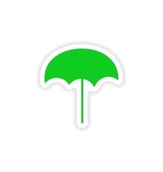 Icon sticker realistic design on paper beach vector