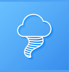 Icon weather tornado and cloud vector
