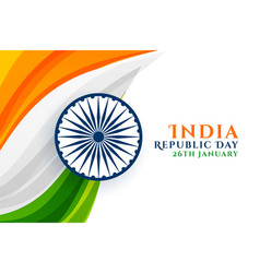 indian republic day creative background vector image