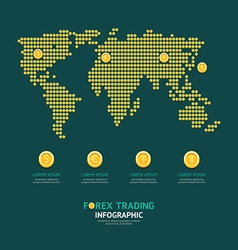 Infographic business currency money coins forex vector image