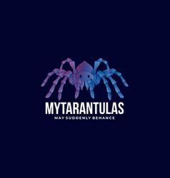 logo my tarantulas gradient colorful style vector image