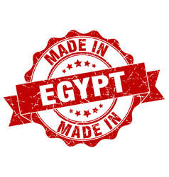 made in egypt round seal vector image