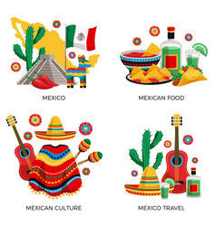 mexico culture concept vector image