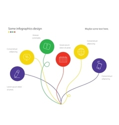 Modern minimalistic mindmap design Useful for vector