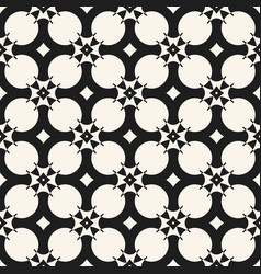 monochrome geometric seamless pattern with grid vector image