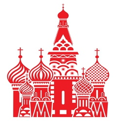 Moscow symbol red resize vector image