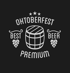 oktoberfest beer festival lettering typography vector image