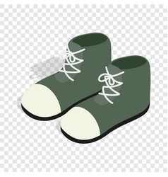 Pair of green boots isometric icon vector