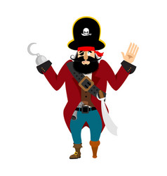 pirate surrenders filibuster apologize buccaneer vector image