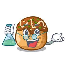 professor takoyaki character in octopus balls food vector image