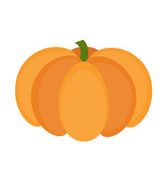 Pumpkin icon flat or cartoon style isolated on vector