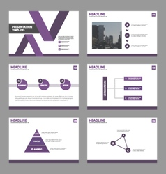 Purple presentation Infographic templates layout vector