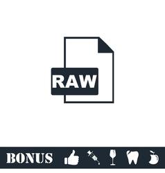 Raw icon flat vector image
