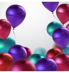 Realistic glossy balloons vector