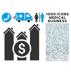 Realty Price Charts Icon with 1000 Medical vector image