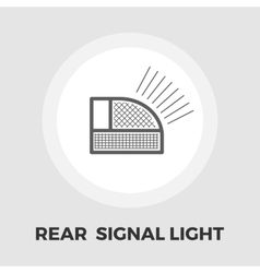 Rear signal light car icon flat vector