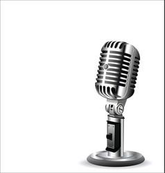 Retro vintage microphone 2 vector