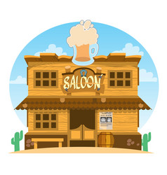 Saloon wild west color game background vector