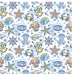 seamless sea children pattern with the steering vector image