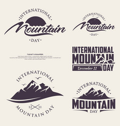 set abstract nature or outdoor mountain day vector image