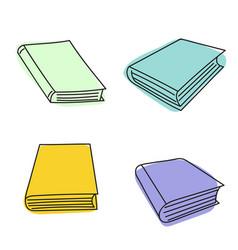 set sketch books vector image