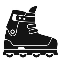 Small wheel inline skates icon simple style vector