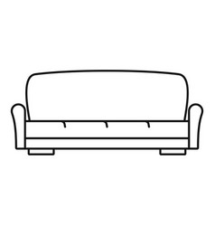 sofa icon outline style vector image