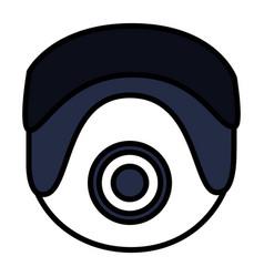 surveillance camera design vector image