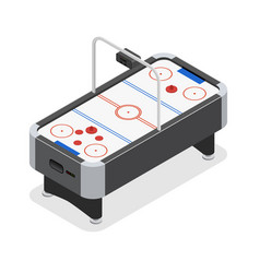 table air hockey game isometric view vector image