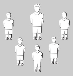 Team Players Silhouettes vector image
