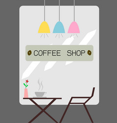 The coffee shop vector