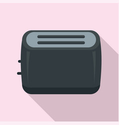 toaster icon flat style vector image