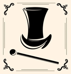 Top hat vector