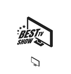 tv show logo vector image