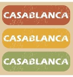 Vintage casablanca stamp set vector
