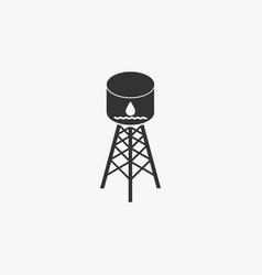 Water tank icon vector