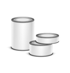white tin box for tea coffee or canned preserves vector image