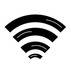 wifi signal isolated icon royalty free vector image rh vectorstock com wifi icon vector white wifi icon vector white