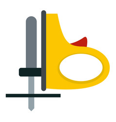 yellow cordless reciprocating saw icon isolated vector image