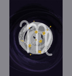 zodiac virgo sign a4 print poster with vector image
