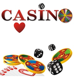 casino white vector image