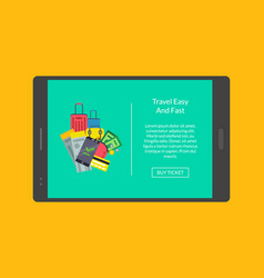 concept of webpage for tablet vector image vector image